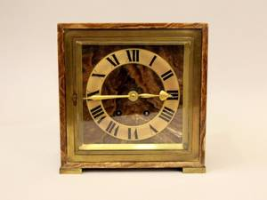 Tiffany  Co French Art Deco Onyx Clock