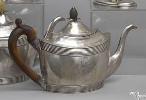 Georgian silver teapot ca 1791