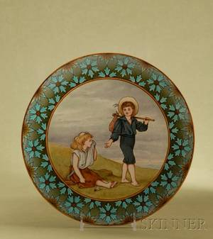 Doulton Lambeth Faience Glaze Pottery Wall Plaque