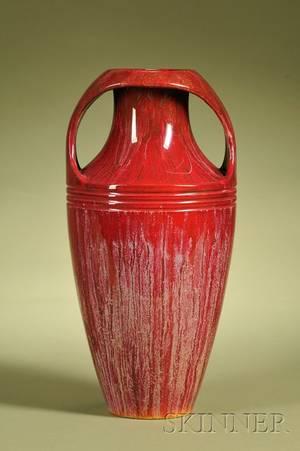 Zsolnay Flambe Glazed Twohandled Vase