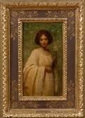Mary Lizzy Macomber American 18611916 Young Woman in a White Dress with a Lily
