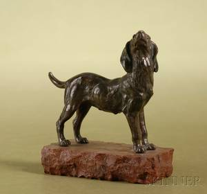 French Bronze Figure of a Hound