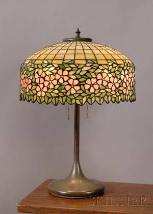 American Art Glass Table Lamp