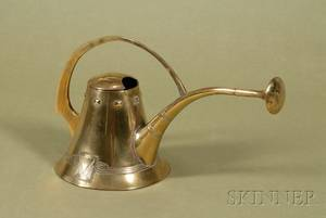 Vienna Secessionist Brass Watering Can