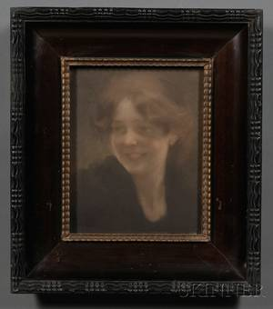 Paul Albert Besnard French 18491934 Portrait of a Smiling Young Beauty