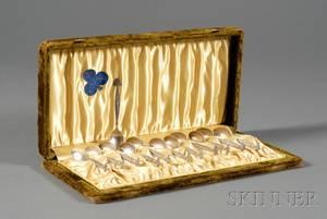 Boxed Set of Gorham Sterling Silver Demitasse Spoons