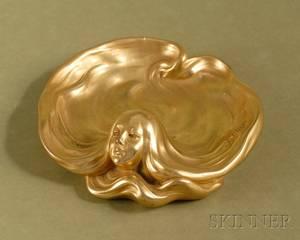 French Art Nouveau Giltbronze Pin Tray