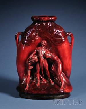 Zsolnay Flambe Glazed Figural Vase