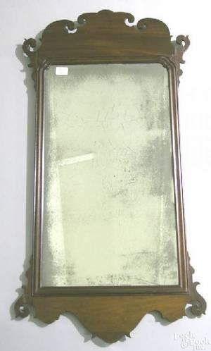American Chippendale mahogany mirror ca 1775
