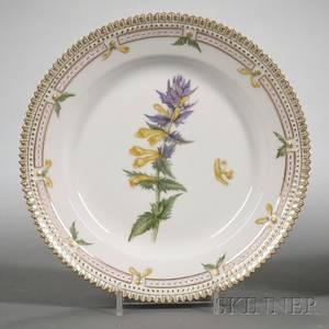 Set of Twelve Royal Copenhagen Porcelain Flora Danica Pattern Side Plates