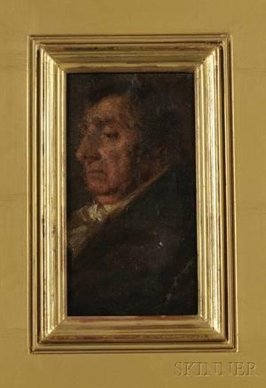 Continental School 19th Century Portrait Head of a Man