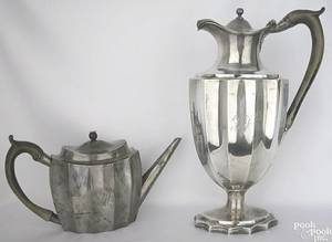 Georgian silver coffee pot and teapot late 18th c