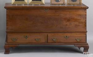 Chester County Pennsylvania inlaid walnut blanket chest dated 1784