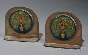 Pair of Rebecca Cauman Arts  Crafts Bookends