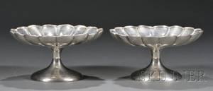 Pair of Crichton Bros Silver Compotes