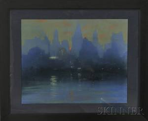 Leon Louis Dolice American 18921960 City Skyline