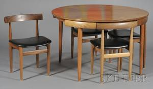 Hans Olsen Dining Table and Four Chairs