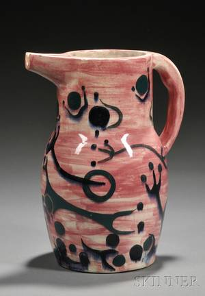 Julio de Diego for Stonelain Pottery Pitcher Retailed by Associated American Artists