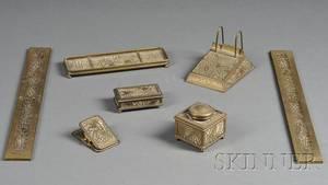 Seven Tiffany Studios Pine Needle Desk Articles