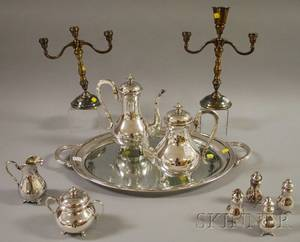 Group of Peter Ferner Sterling Silver and Silverplate Tableware