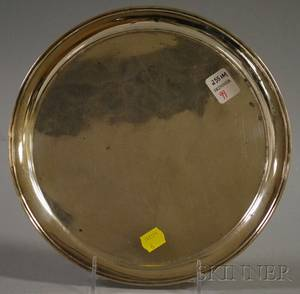 Lebkuecher  Co Sterling Silver Round Tray