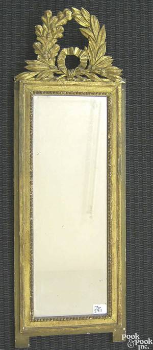 Continental carved giltwood mirror
