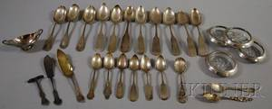 Group of Assorted Sterling and Coin Silver Flatware and Tableware
