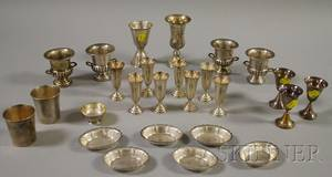 Group of Silver and Silverplated Tableware and Serving Items