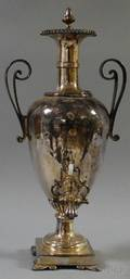 Large Antique Silverplated Hot Water Urn