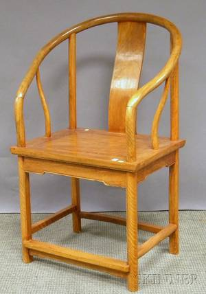 Chinese Hardwood Yokeback Chair