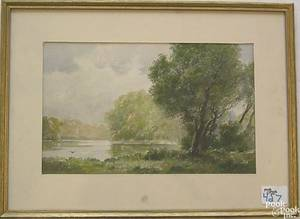 Three watercolor landscapes to include 2 by Charles Russell Loomis