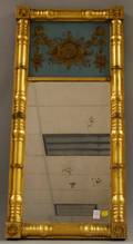 Classicalstyle Giltwood Splitbaluster Mirror with Eglomise Glass Tablet