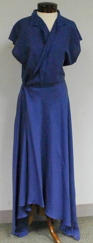 Ralph Lauren Purple Label Periwinkle Silk Wrapfront Dress