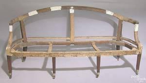George III mahogany sofa ca 1790