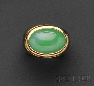 18kt Gold and Jadeite Ring