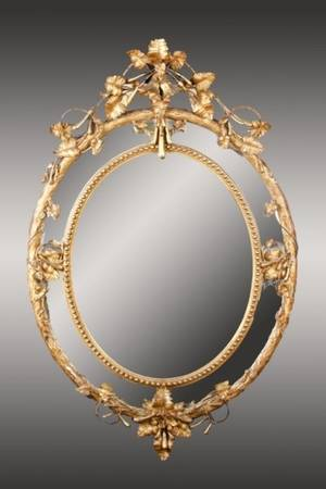 Late 19th C Carved  Gilt Wood Mirror