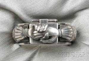 Judaica Silver Marriage Ring