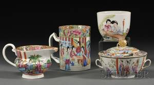 Four Chinese Export Porcelain Wares