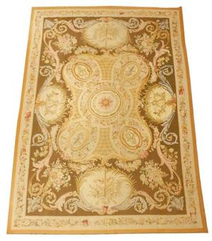 Palatial Aubusson Style Floral Tapestry