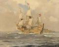 Charles Eddowes Turner British 18831965 Mayflower II Off Start Point Devon England
