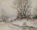 Frank Swift Chase American 18861958 Winter Landscape