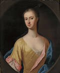 Manner of Sir Peter Lely British 16181680 Portrait of a Young Lady