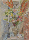 Alexis Paul Arapoff American 19041948 Still Life with Flowers and Candle