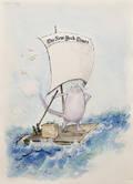 Ronald William Searle British b 1920 Cat on a Raft
