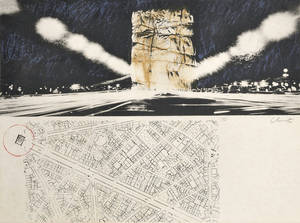 Christo and JeanneClaude American b 1935 Project for the Arc de Triomphe Paris