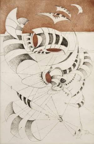 Lee Bontecou American b 1931 Untitled