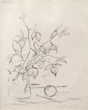 Alberto Giacometti Swiss 19011966 Bouquet et pomme