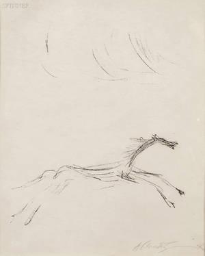 Alberto Giacometti Swiss 19011966 Cheval galopant