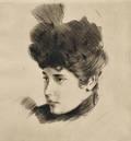 Paul Csar Helleu French 18591927 Mademoiselle Ellen Helleu