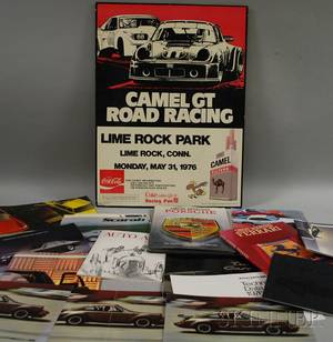 Group of Vintage 1970s and 1980s Automobile Brochures Books and Collectibles